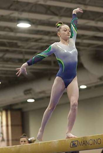 photograph of gymnast, katie finnegan